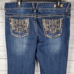Like new Vanity womens embellished flare jeans